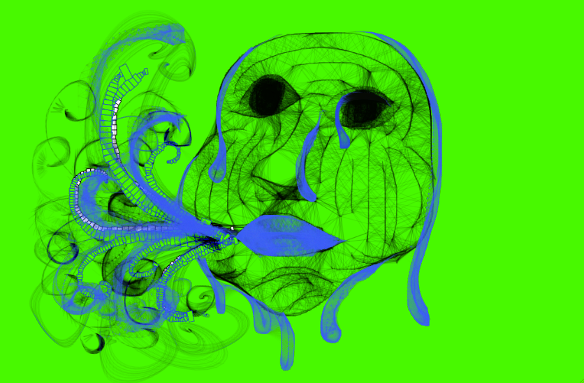 Abstract face made on Mr  Doob Harmony By Mackenzie   Art styles