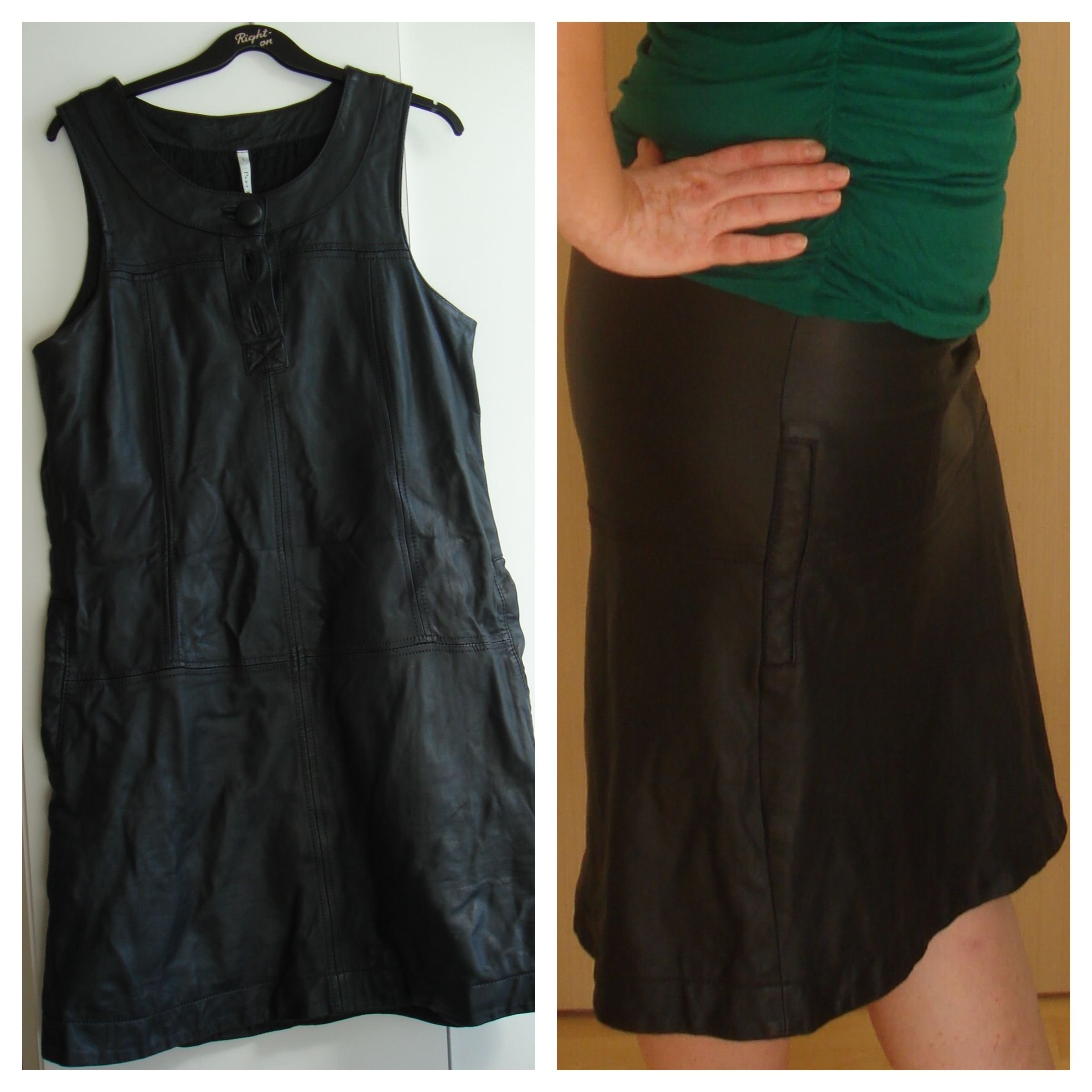 DIY From boring leather spencer to hot leather skirt. Fra