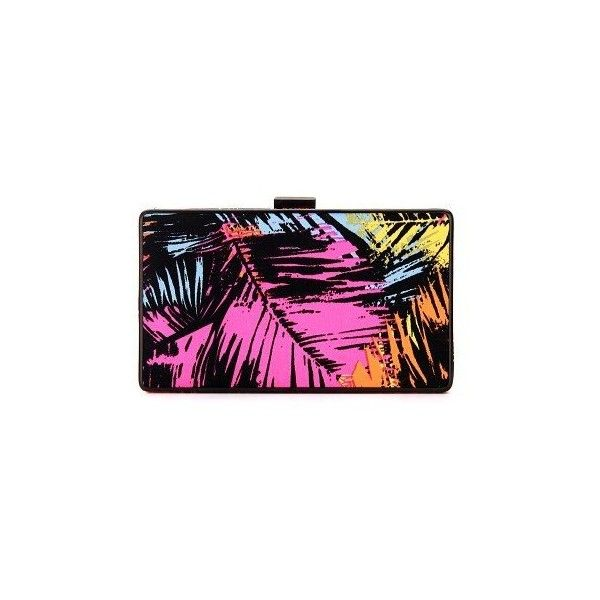 Yoins Occasion Box Clutch Bag (1,245 PHP) ❤ liked on Polyvore featuring bags, handbags, clutches, chain strap handbag, multicolor handbags, chain strap purse, multi colored clutches and chain handle handbags