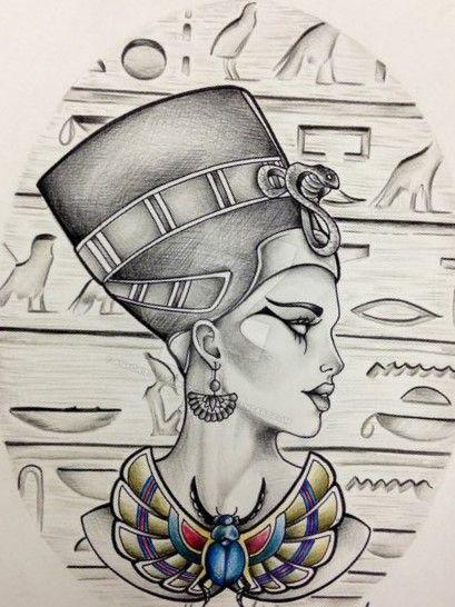 Pin By Aleyna Mert On Beauty Egypt Tattoo Egyptian Tattoo Nefertiti Tattoo