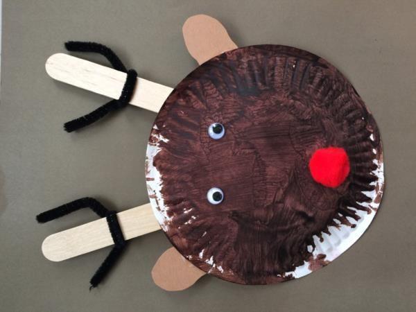 Paper Plate Reindeer Preschool Art Project & Paper Plate Reindeer Preschool Art Project | Holiday Preschool Arts ...