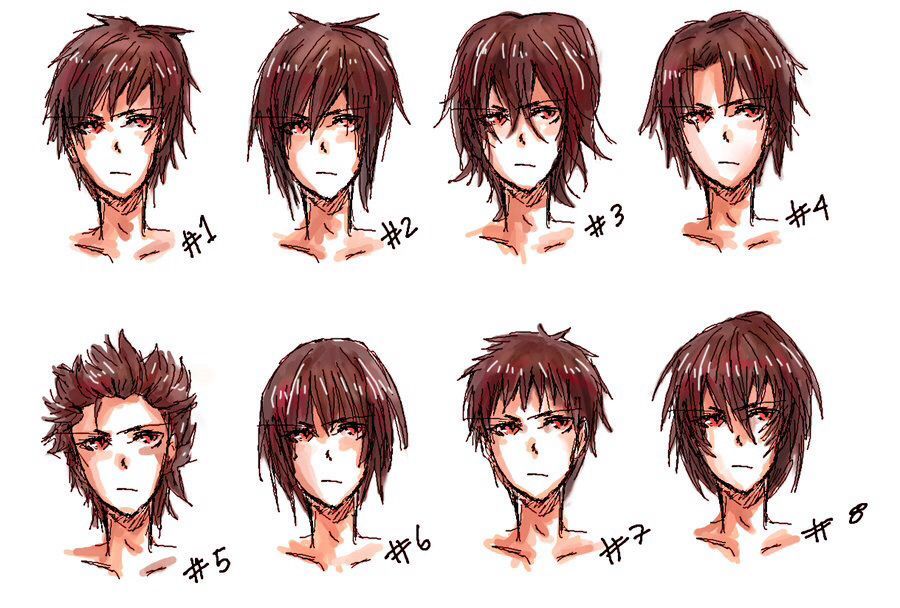 Inspiration: Boy's / Men's Hairstyles ----Manga Anime