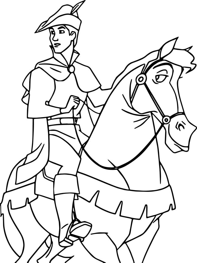 Prince Phillip And Samson Horse Going Coloring Pages Coloring Pages Alphabet Coloring Pages Coloring Pages For Kids [ 1067 x 800 Pixel ]