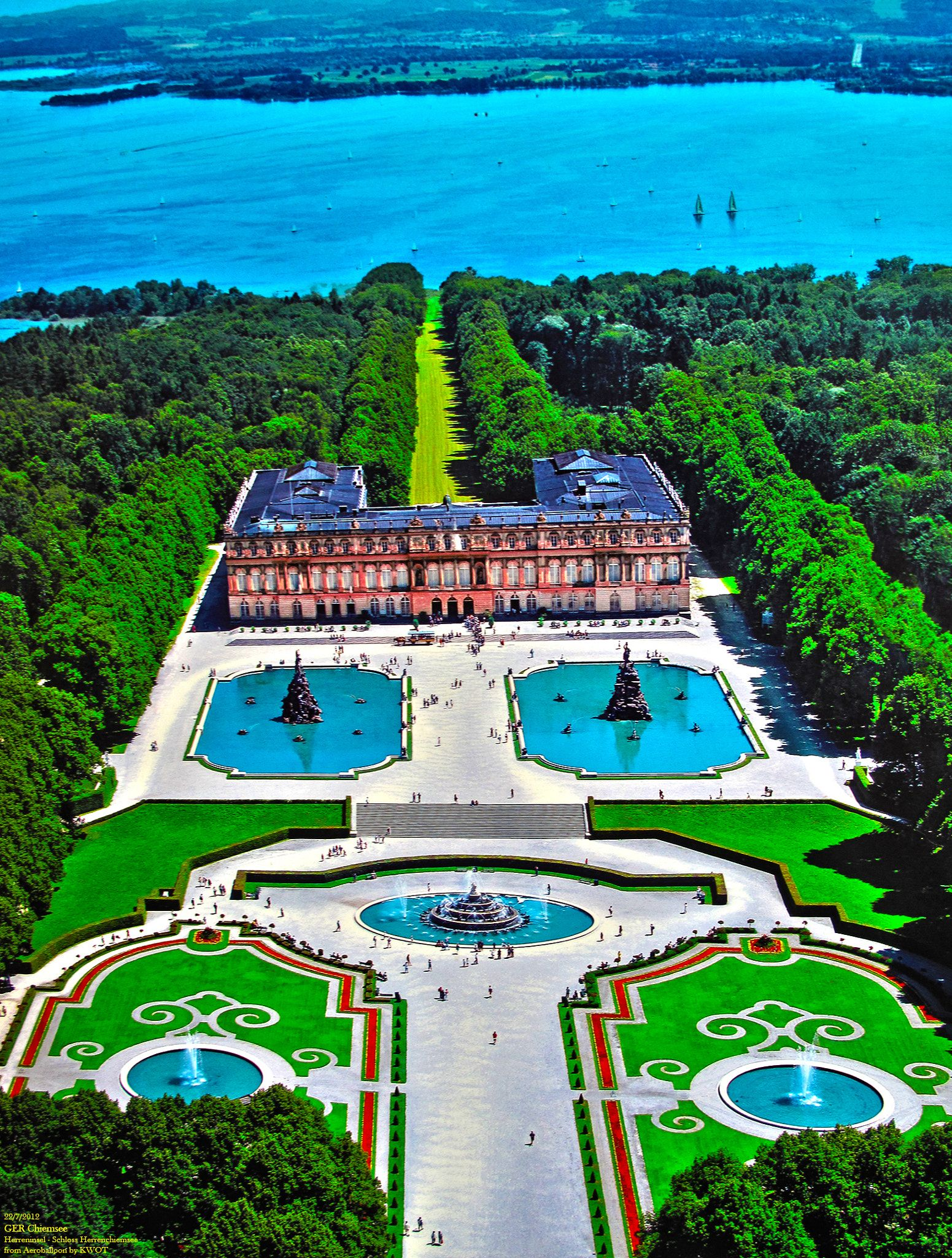 Ger Chiemsee Aero Herreninsel Jul 2012 By Kwot The Beauty From Above Germany Castles Germany Palaces Castle Bavaria