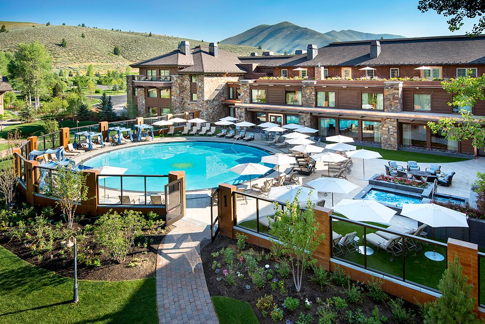 Newly Extended Pool And Spa At Sun Valley Lodge In Idaho Courtesy Of Resort Kevin Syms Via Harpertravel