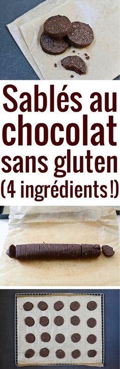 Des sablés sans gluten savoureux, croquants et fondants, faits avec seulement 4 ingrédients faciles à trouver.