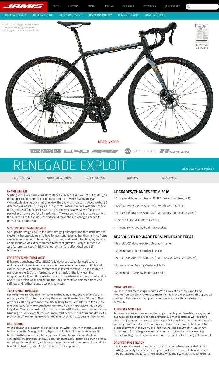 My Next Bike Jamis Renegade Exploit Versatile Adventure Bike