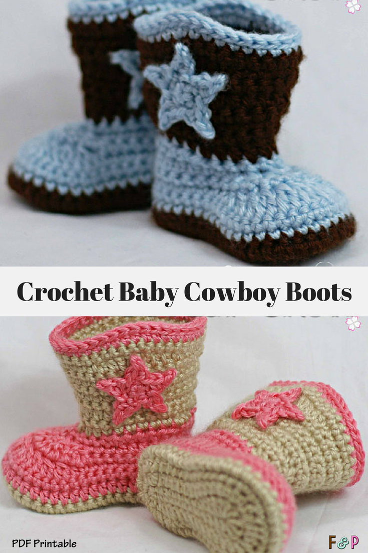 I love love love these crochet baby cowboy boots!! What an adorable ...