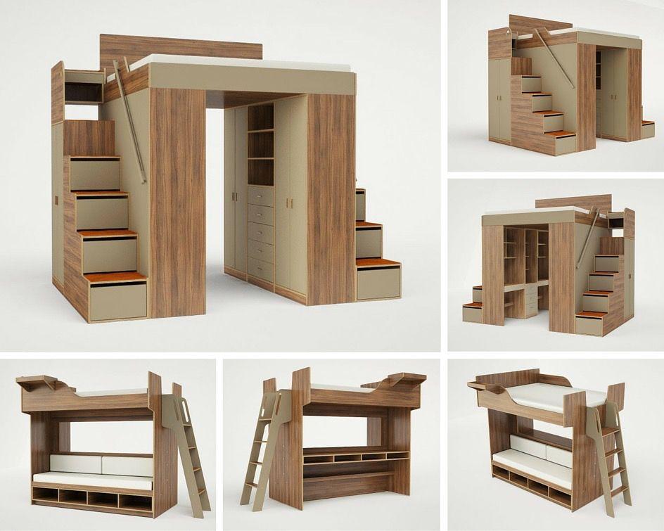 pin von david gonzalez auf casas pinterest hochbetten kleines schlafzimmer und schlafzimmer. Black Bedroom Furniture Sets. Home Design Ideas