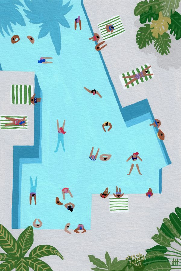 Crisp cut swim by Joanne Ho on Artfully Walls