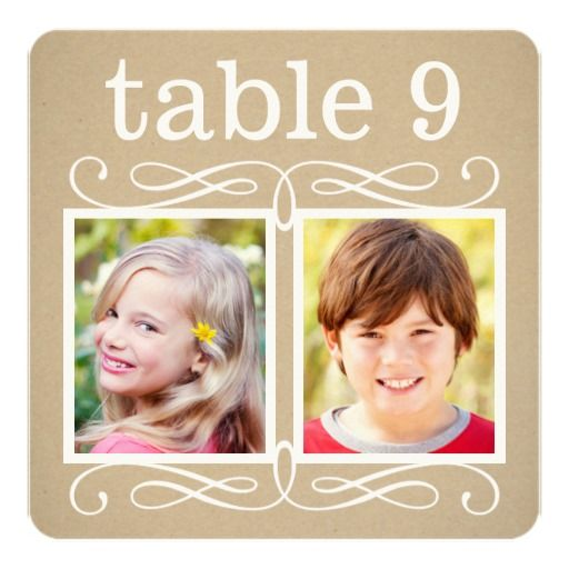 Wedding Table Number Cards | Bride   Groom Photos Personalized Invitation