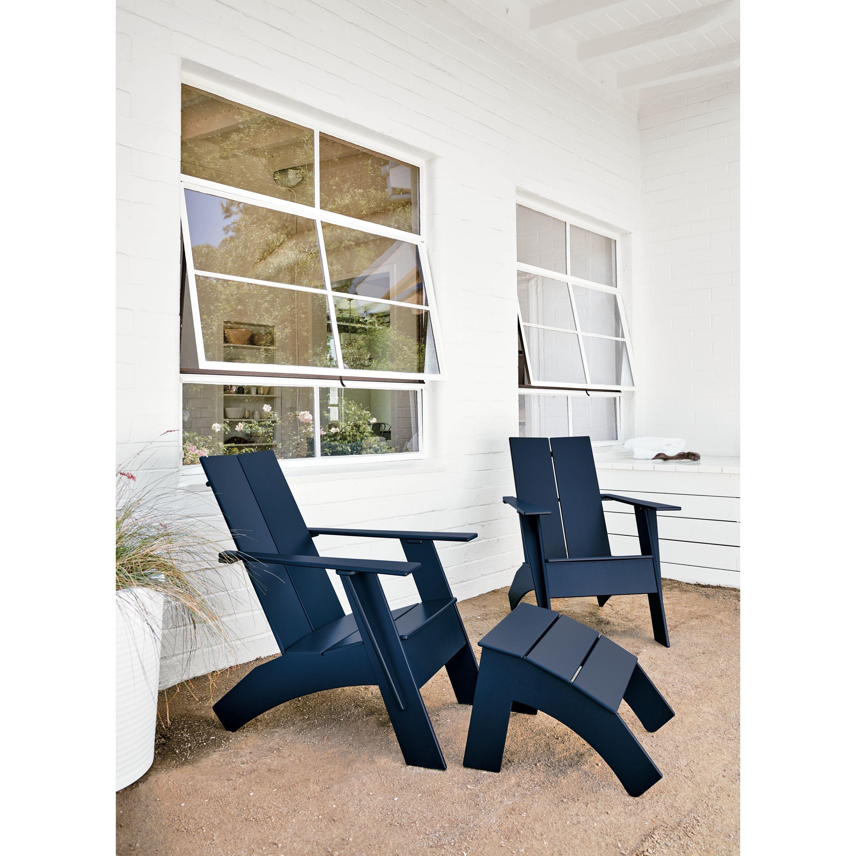 Emmet Outdoor Tall Lounge Chair Ottoman Modern Outdoor Chairs