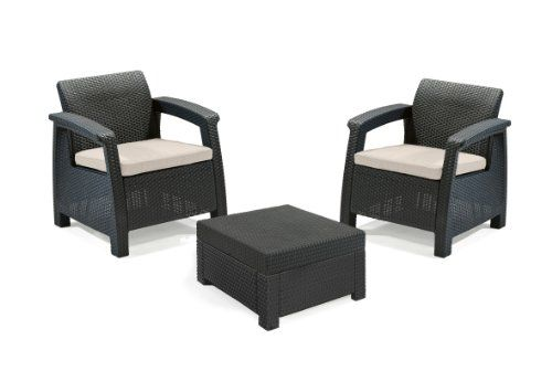 Nice Keter Corfu 2 Seater Balcony Set With Table Buy This And Much More Home Living Produ Rattan Furniture Set Patio Furniture Pillows Garden Furniture Sets
