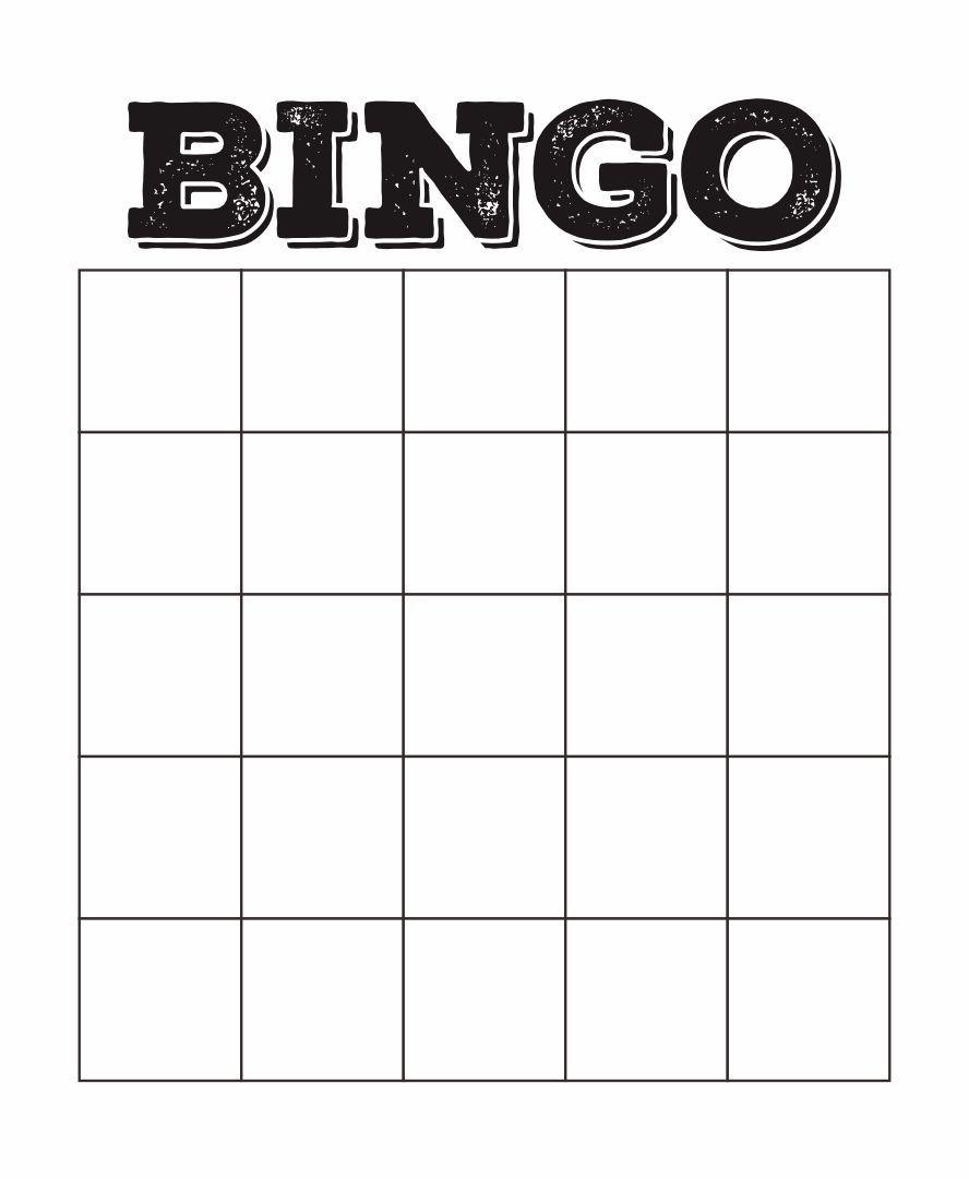 4x4 Blank Bingo Card Template Bingo Template Bingo Card Template Blank Bingo Cards