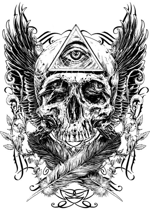 Rafal Wechterowicz Inspired by skulls #skull #SkullArt #SkullInspiration #inspiration #SkullArt #goth #death #art #DarkArt