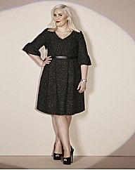 Claire Richards Tweed Prom #Dress | Simply Be | Black & White ...