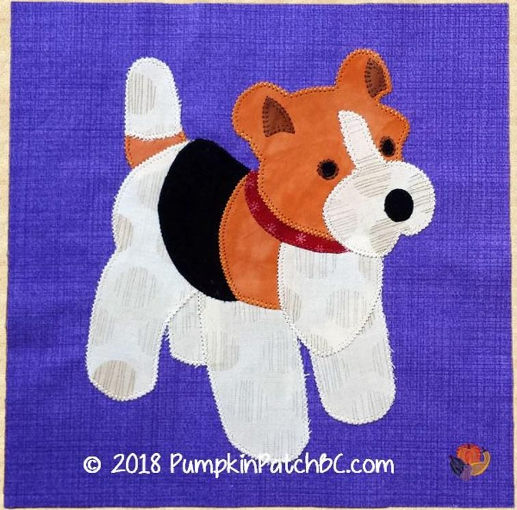 Free Quilt Pattern: Barnyard Bash BOM #1 – Dudley the Dog | quilten ...