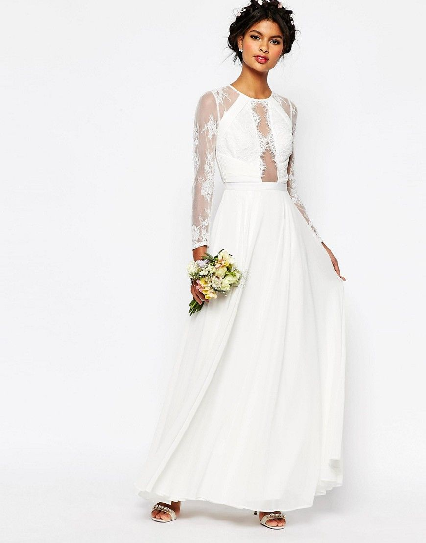 Dreaming about wearing a wedding dress  ASOS BRIDAL Lace Paneled Maxi Dress  Wedding dreams  Pinterest