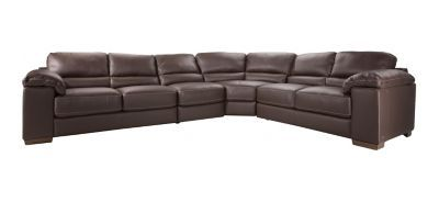 Cindy Crawford Maglie 4 Pc Leather Sectional Sofa