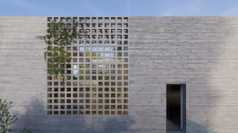 Concrete Brick House Pitsou Kedem Concrete Architecture Brick Architecture Facade House
