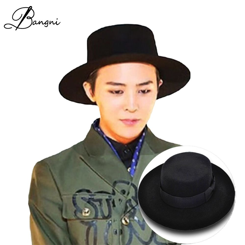 293108046e10d 2017 Autumn Winter Mens Hats Fedoras Vintage Women Girls Felt Fedoras Flat  Top Jazz Hat Church