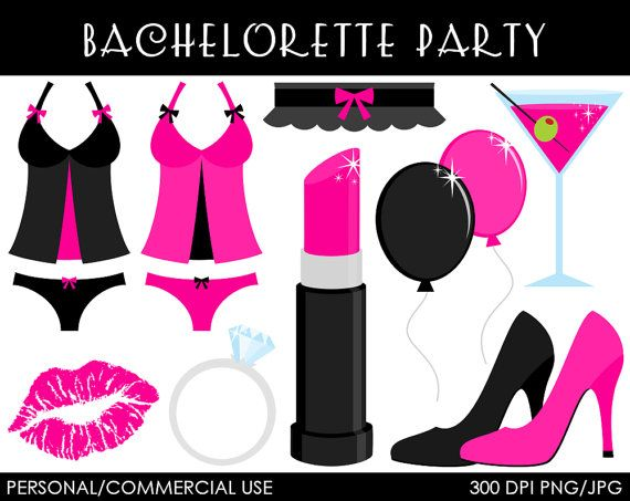 bachelorette party clipart digital clip art by mareetruelove sexy rh pinterest ph bachelorette party clipart Party Girl Clip Art