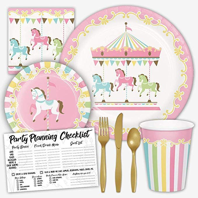 Honey Dew Gifts Carousel Pastel Birthday Party Supplies