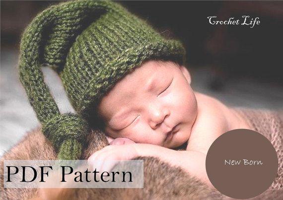Baby Stocking Hat Pdf Pattern Knitting Pattern Knit Baby Hat