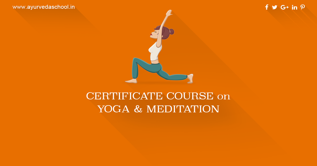Be An Expert In Yoga And Meditation Certificate Course Yoga