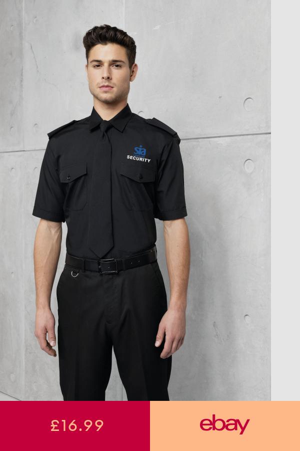 Clothing Collectables Ebay Security Uniforms Uniform Shirts Black Shirt