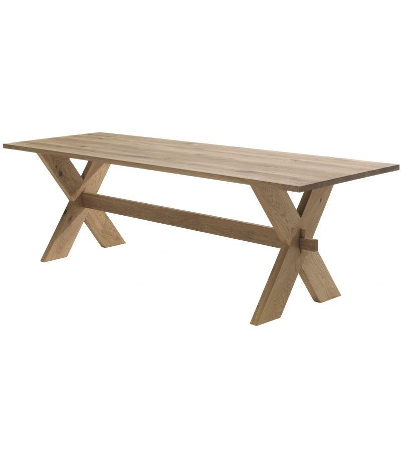 X Table Riva 1920 Tisch, der zur Gänze aus verleimten Massivholz ...