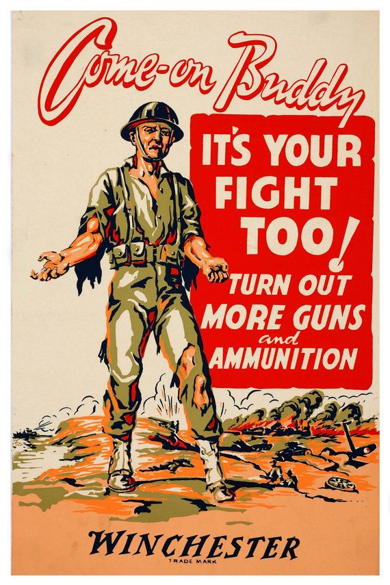 a418fbcb4155 Reprint of a Allied WW1 Propaganda Poster by VPCompany on Etsy