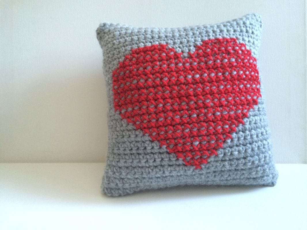 Heart pillow free crochet pattern xstitch diy pillow valentine heart pillow free crochet pattern xstitch diy pillow valentine gift crochet bankloansurffo Image collections