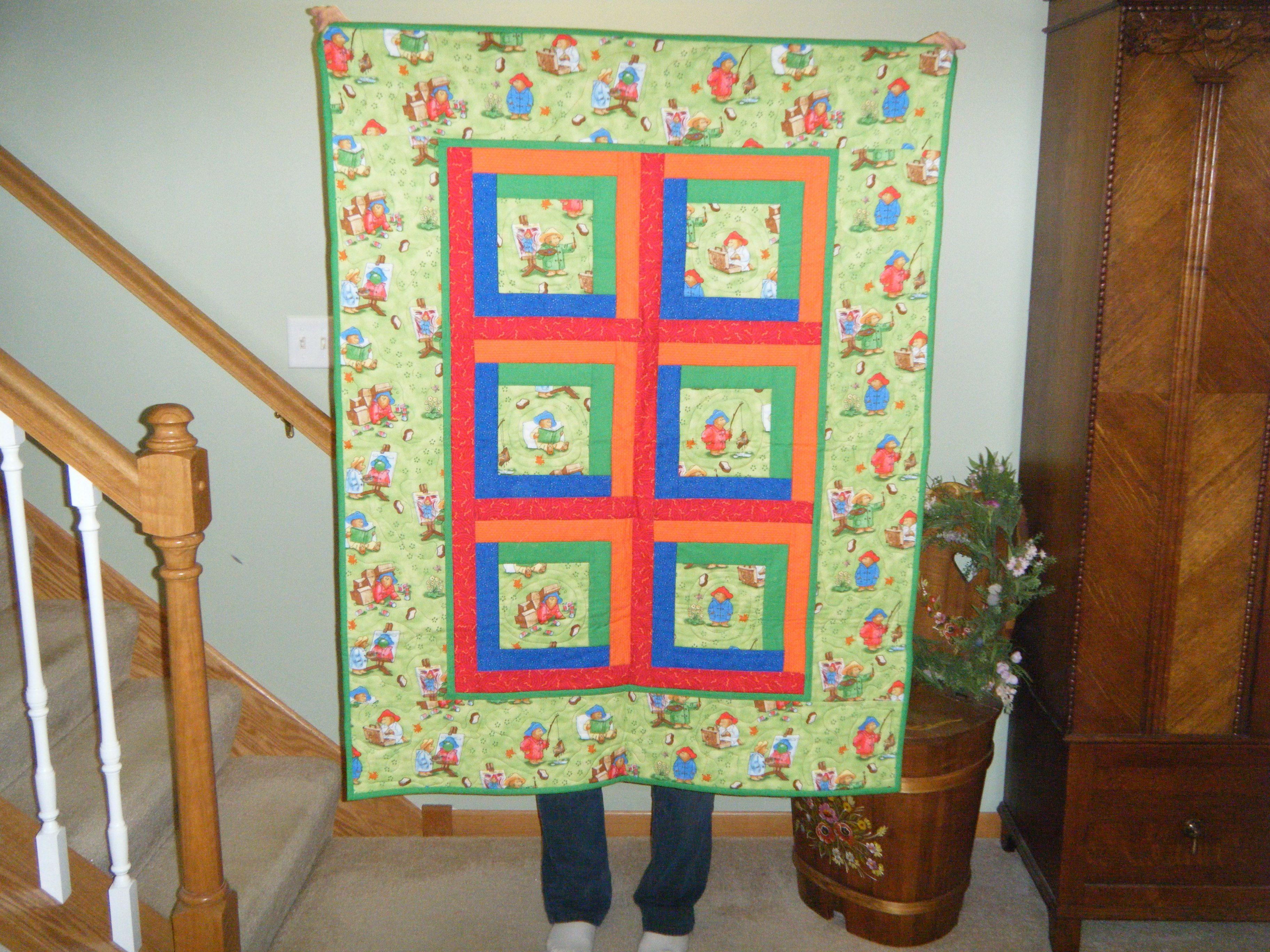 Paddington Bear quilt. | Quilts | Pinterest | Paddington bear and ... : paddington bear quilt - Adamdwight.com