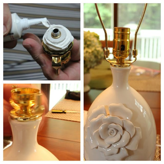 Turning A Vase Into A Lamp Frugal Home Decorating Ideas