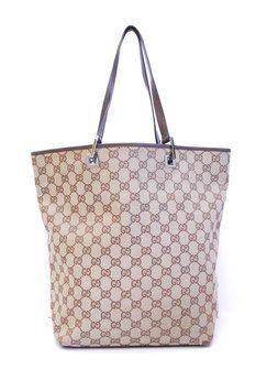 af0d4e357234 Gucci Gg Canvas With Leather Handbag Brown Tote Bag. Get one of the hottest  styles of the season! The Gucci Gg Canvas With Leather Handbag Brown Tote  Bag is ...