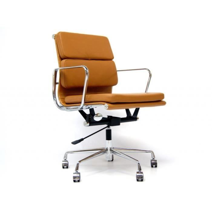 eames chaise de bureau Eames Soft Pad EA217 - Havane - Achat - Vente chaise de bureau - Cdiscount
