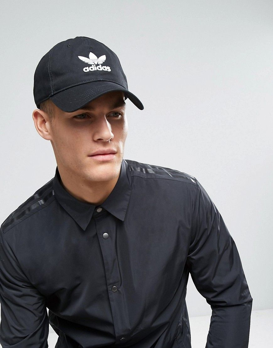 ADIDAS ORIGINALS TREFOIL CAP IN BLACK BK7277 - BLACK.  adidasoriginals   cd4ec186db81