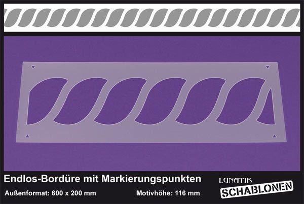 Schablone XL Bordüre Kordel Seil Muster - LB66   von Lunatik-Style via dawanda.com