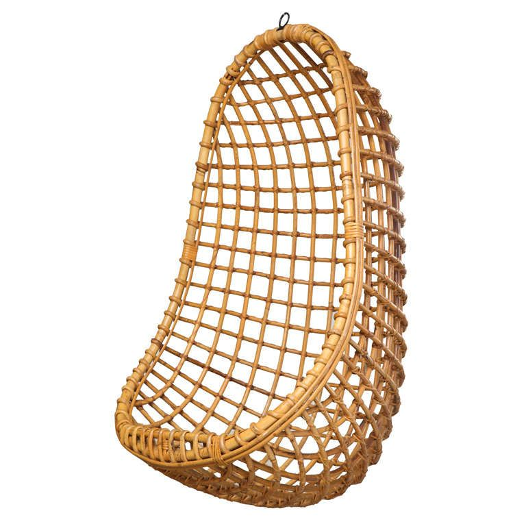 Genial Vintage Bamboo Hanging Chair