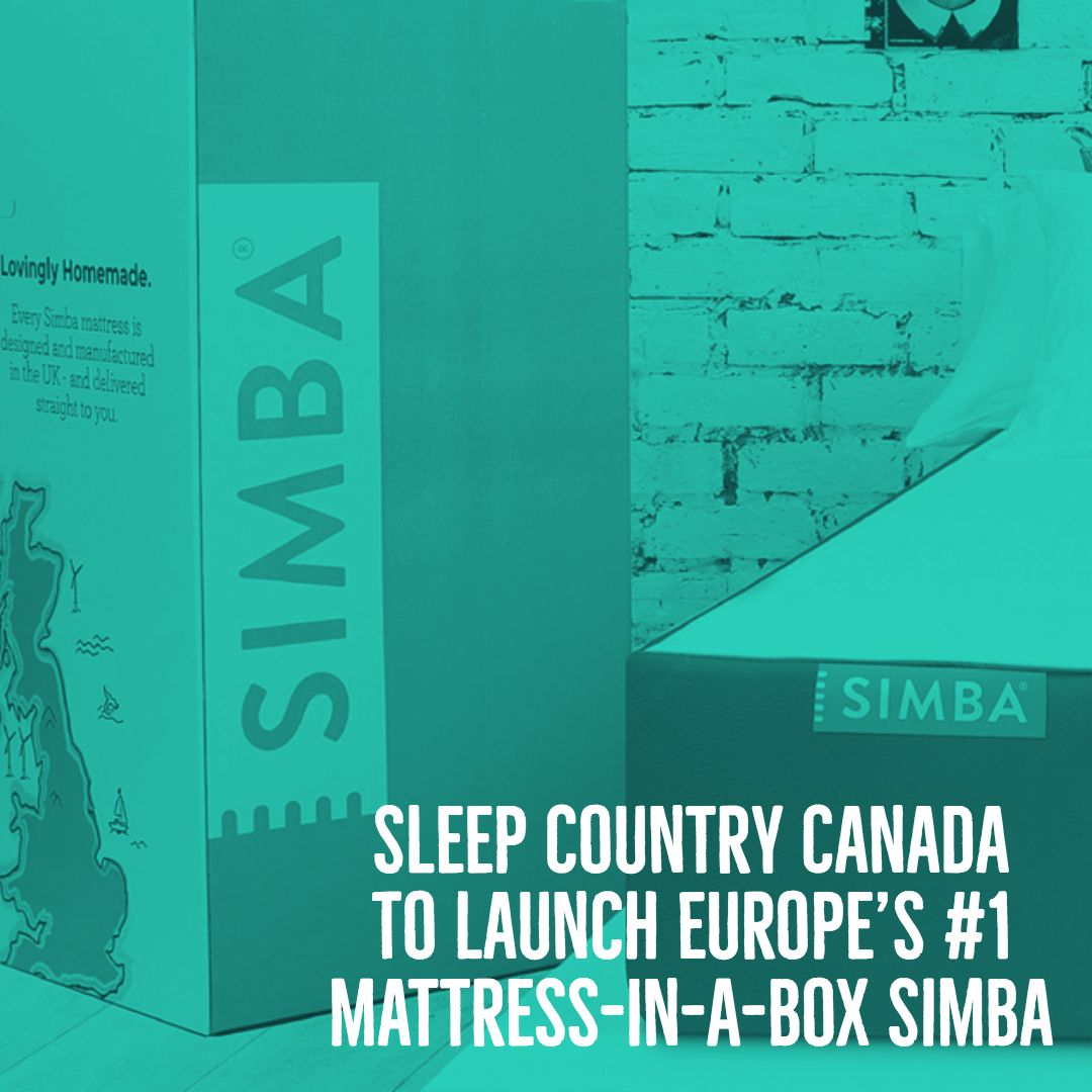 Sleep Country Canada To Launch Europe S 1 Mattress In A Box Simba Simba Mattress Sleep