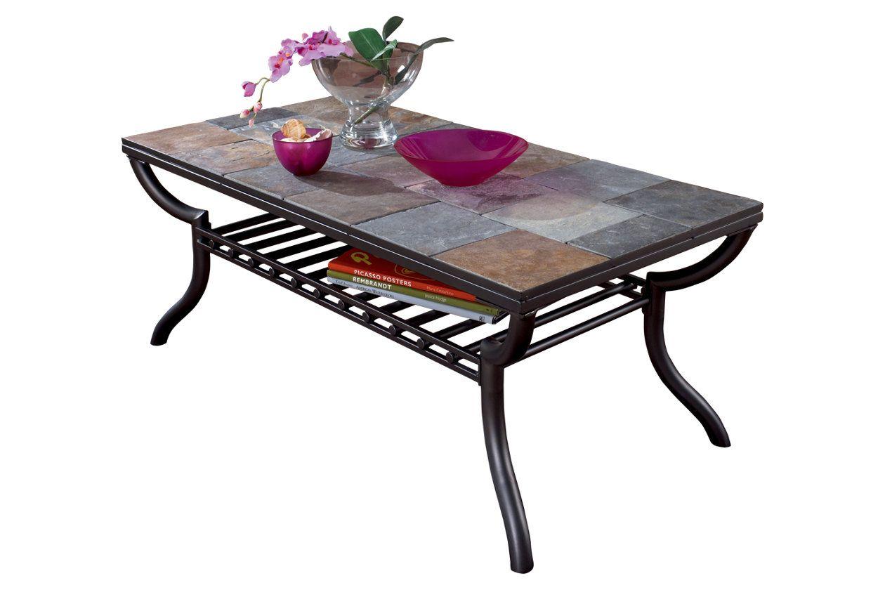 Antigo coffee table ashley homestore slate coffee