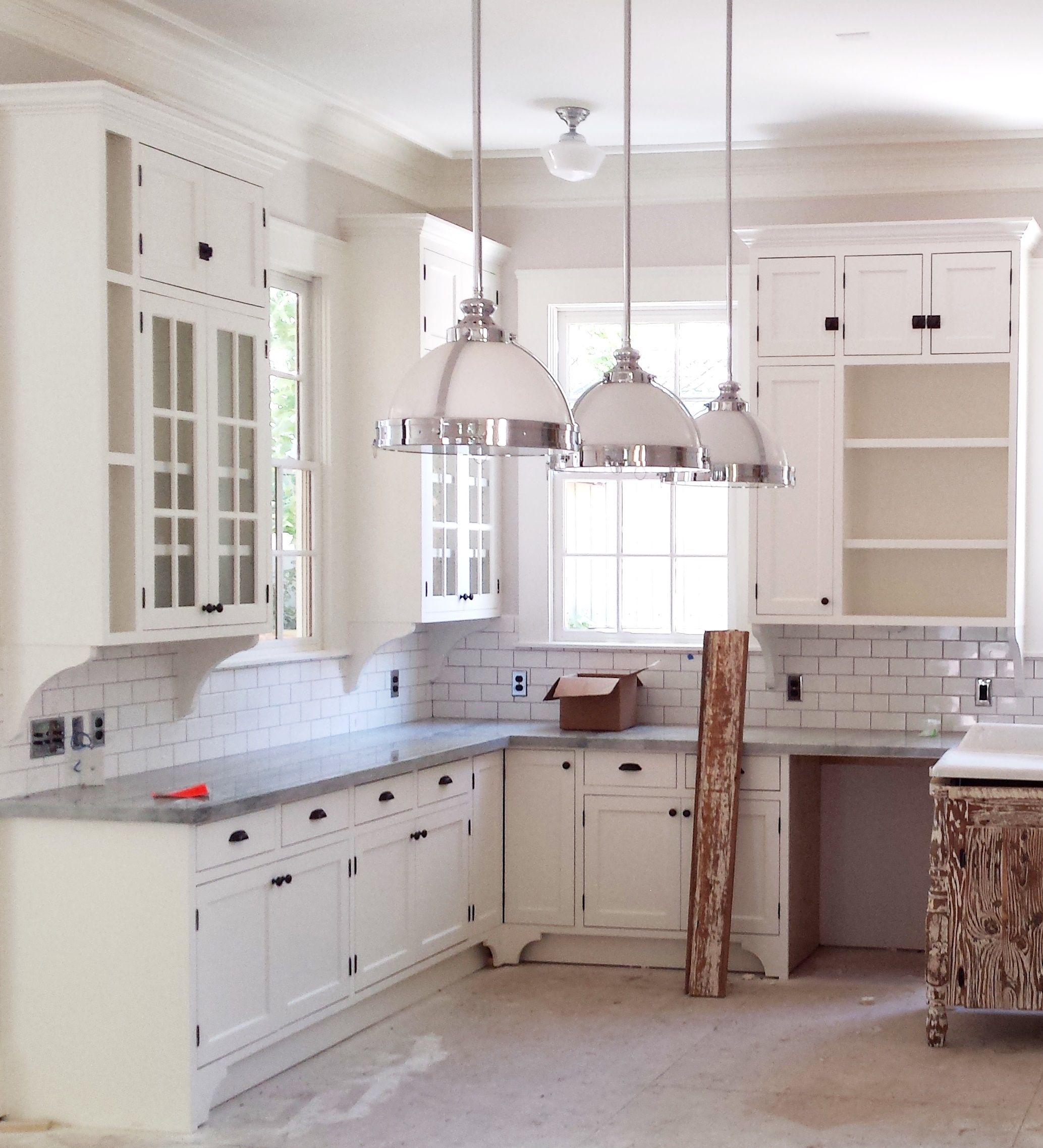 Custom vintage style kitchen for new house in the Heights