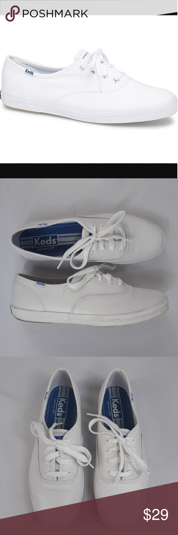 facd5164053a KEDS Champion Originals Lace Sneakers White 8 Keds champion original tennis  shoe in white. 4