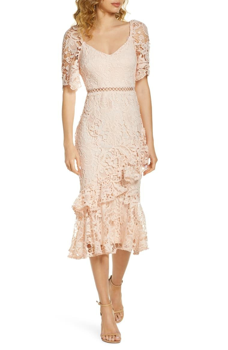 Lulus Briarwood Ruffle Lace Cocktail Dress Nordstrom Cocktail Dress Lace Pink Dress Women Pretty In Pink Dress [ 1164 x 760 Pixel ]