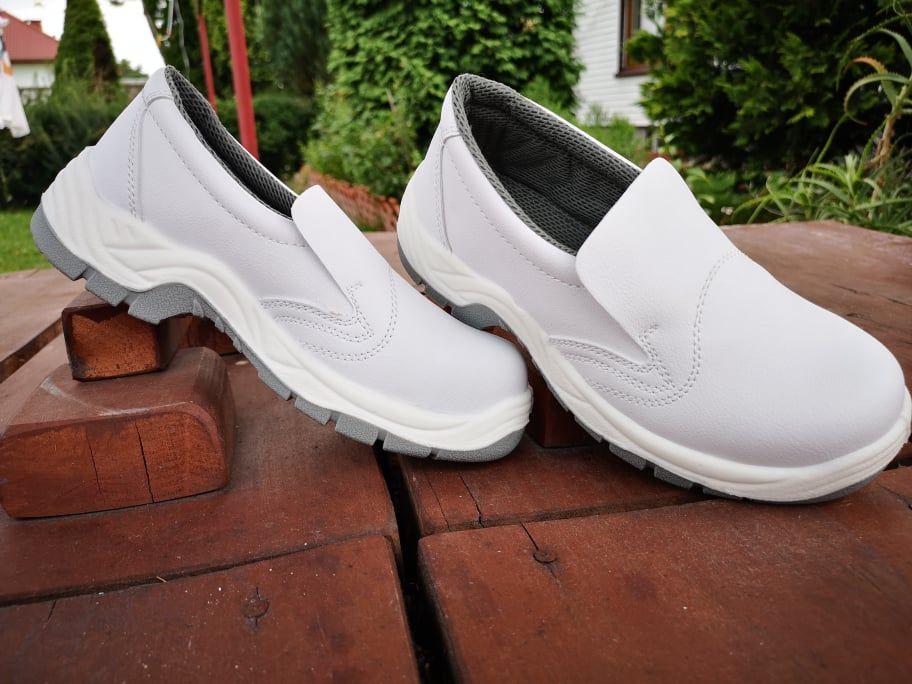 Polbuty Ochronne Bpwhite Biale Wsuwane Art Master Sepatu