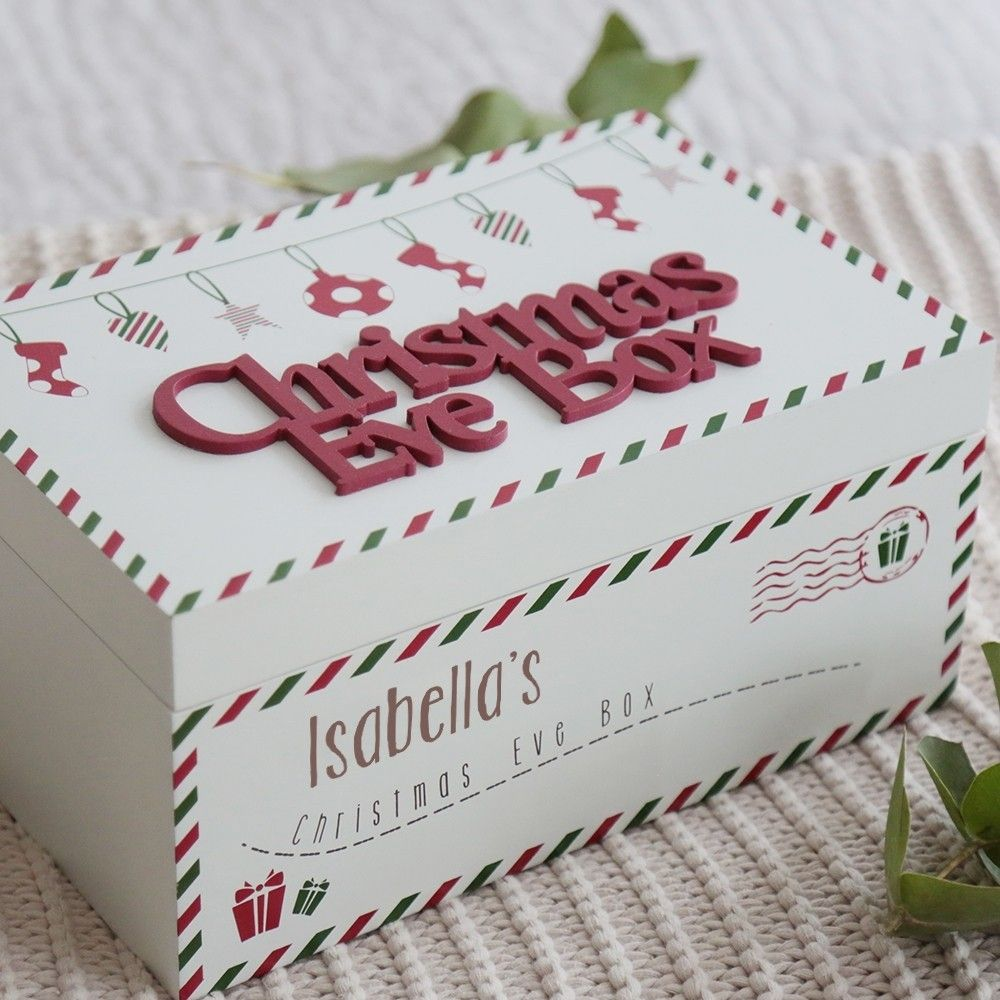 Personalised Wooden Christmas Eve Box   Wooden christmas eve box, Christmas eve box, Diy ...
