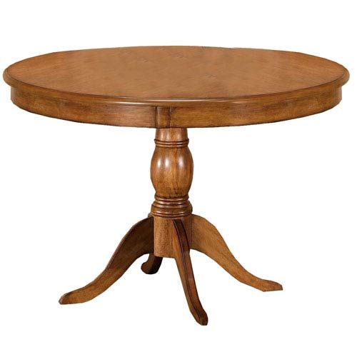 Bayberry Oak 44 Inch Round Table Dining Table Round Pedestal Dining Table Round Dining Table