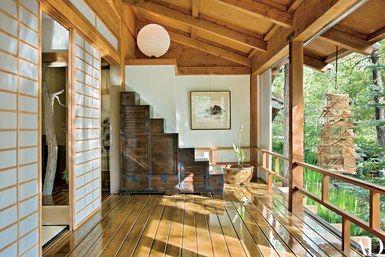 A Residence On Arizona S Mogollon Rim Features Classic Japanese