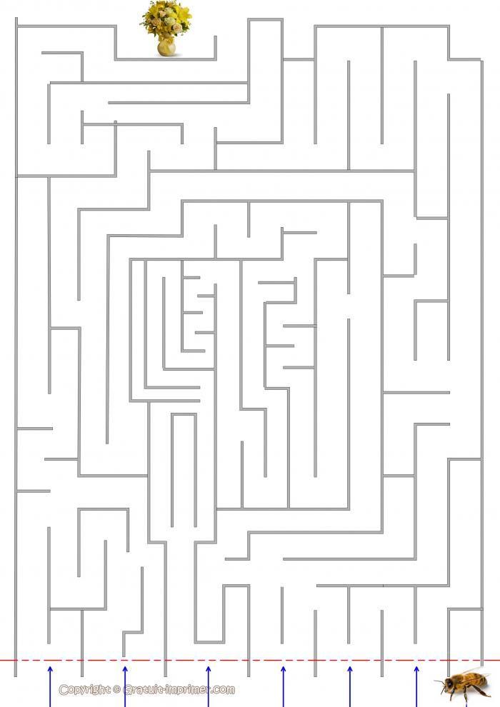 Jeu de labyrinthe pour enfant jeux d 39 enfant gratuits - Jeu labyrinthe a imprimer ...